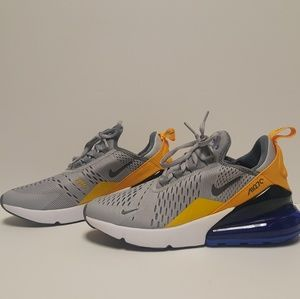 Nike Air Max 270 GS Shoes Wolf Cool Grey Blue